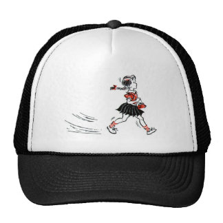 Whimsical Vintage Little Girl With Purse Trucker Hat