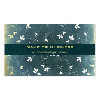 Whimsical Vintage Pattern with Birds and Leaves Business Card