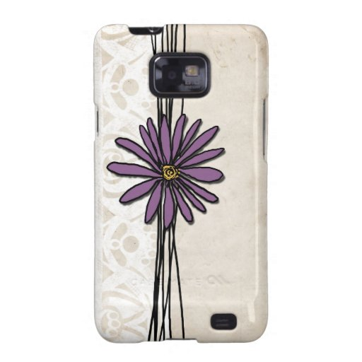 Whimsical Vintage Purple Daisy Galaxy S2 Cover