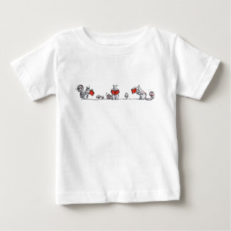 Whimsical Vintage Reading Squirrels Baby T-Shirt