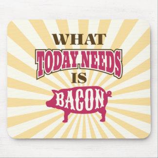 Whimsical Vintage Style Bacon Meme Mouse Pad