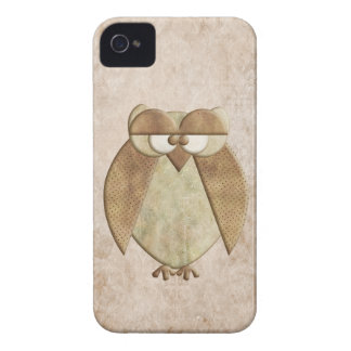 Whimsical Vintage Style Owl iPhone 4 Cover