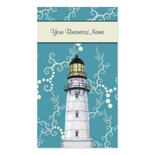 Whimsical Water Litghthouse Nautical Business Card