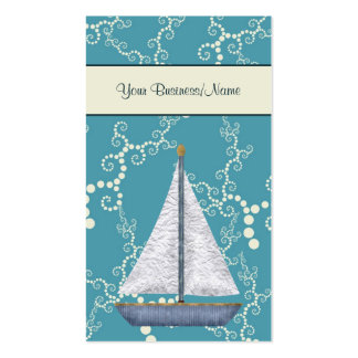 Whimsical Water Nautical Sailboat Business Card