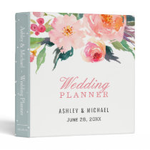 Whimsical Watercolor Botanical Wedding Planner Binder
