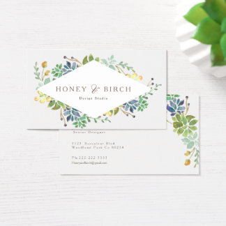 Whimsical Watercolor | Business Card