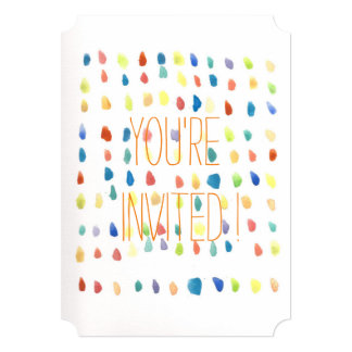 Whimsical WaterColor colorful Invitation Tickets