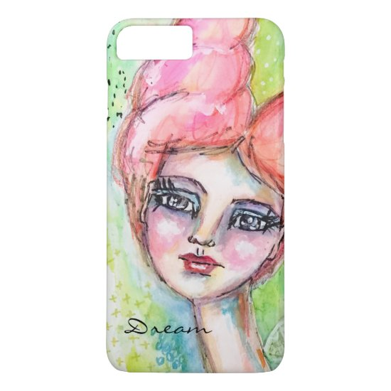 Whimsical Watercolor Fairy Girl Colorful Artistic iPhone 8 Plus/7 Plus Case