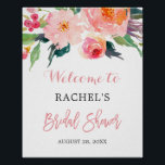 """Whimsical Watercolor Floral Bridal Shower Sign<br><div class=""""desc"""">================= ABOUT THIS DESIGN ================= Whimsical Watercolor Floral Bridal Shower Sign Poster. (1) The default size is 8 x 10 inches, you can change it to any size. (2) For further customization, please click the &quot;Customize&quot; button and use our design tool to modify this template. All text style, colors, sizes...</div>"""
