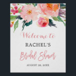 "Whimsical Watercolor Floral Bridal Shower Sign<br><div class=""desc"">================= ABOUT THIS DESIGN ================= Whimsical Watercolor Floral Bridal Shower Sign Poster. (1) The default size is 8 x 10 inches, you can change it to any size. (2) For further customization, please click the &quot;Customize&quot; button and use our design tool to modify this template. All text style, colors, sizes...</div>"