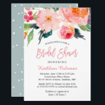 "Whimsical Watercolor Floral Modern Bridal Shower Card<br><div class=""desc"">================= ABOUT THIS DESIGN ================= Whimsical Watercolor Floral Modern Bridal Shower Invitation (1) For further customization, please click the &quot;Customize&quot; button and use our design tool to modify this template. The background color is changeable. (2) If you prefer thicker papers, you may consider to choose the Matte Paper Type. (3)...</div>"