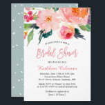 """Whimsical Watercolor Floral Modern Bridal Shower Invitation<br><div class=""""desc"""">Whimsical Watercolor Floral Modern Bridal Shower Invitation (1) For further customization, please click the &quot;customize further&quot; link and use our design tool to modify this template. (2) If you prefer Thicker papers / Matte Finish, you may consider to choose the Matte Paper Type. (3) If you need help or matching...</div>"""
