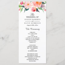 Whimsical Watercolor Floral Wedding Program