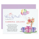 Whimsical Watercolor Mailbox Shower by Mail Invitation