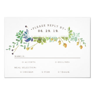 Whimsical Watercolor RSVP Card