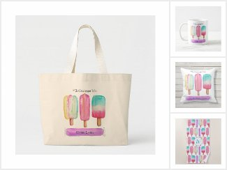 Whimsical Watercolor Summer Popsicles
