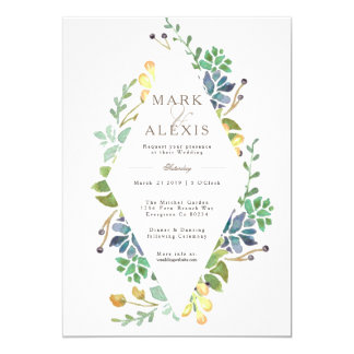 Whimsical Watercolor | Wedding Invite