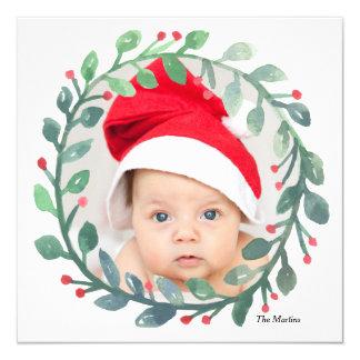 Whimsical Watercolor Wreath | Christmas Card