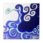 Whimsical Waves Small Square Tile