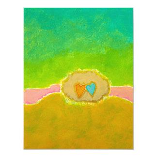 Whimsical wedding art Summer Love thank you cards