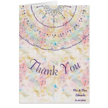 Whimsical wedding collection doddles mandala card