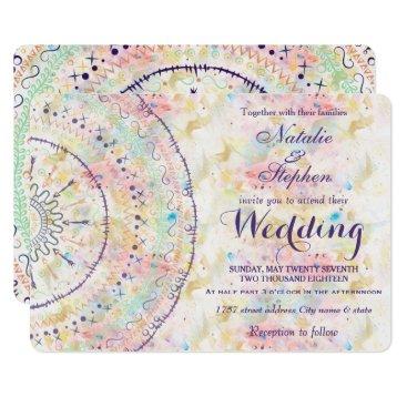 Whimsical wedding collection doddles mandala card