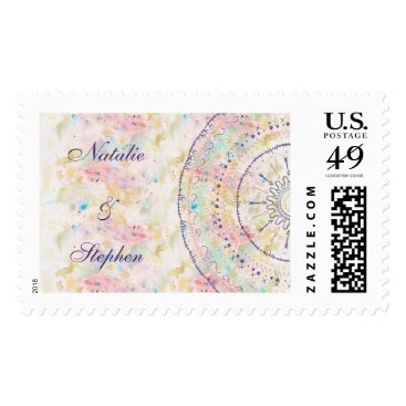 Aztec Themed Whimsical wedding collection doddles mandala postage