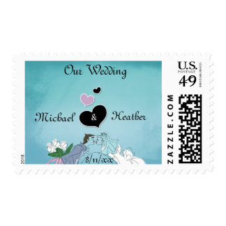 Whimsical Wedding Postage Stamp