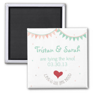 Whimsical Wedding Save The Date Magnet
