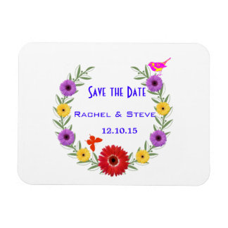 Whimsical Wedding Save the Date Wedding Magnet
