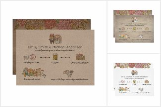 Whimsical Wedding Timeline Collection