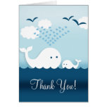 Whimsical Whales Thank You Stationery Note Card