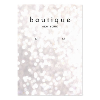 Whimsical White Bokeh Earring Display Card Large Business Cards (Pack Of 100)