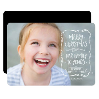 Whimsical White Christmas Greeting to You Card