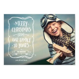 Whimsical White Christmas Greeting to You Card