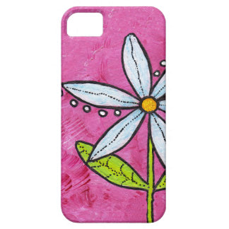 Whimsical White Daisy Flower Pink iPhone 5 Cases