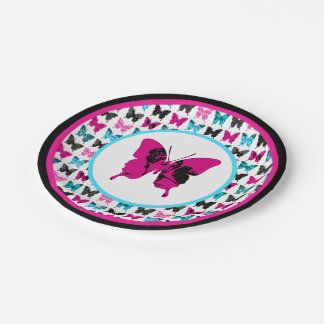 Whimsical Wings: Cameo Pink 7 Inch Paper Plate