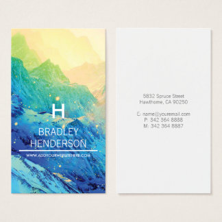 WHIMSICAL WINTER COLOURFUL PERSONALIZED BUSINESS CARD