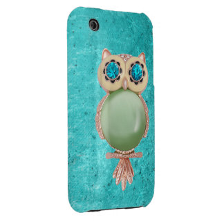 Whimsical Winter Owl Jewel iPhone 3G Case iPhone 3 Cover