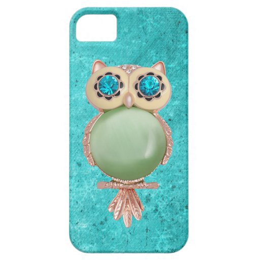 Whimsical Winter Printed Image Owl Jewel iPhone 5 Cover