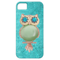Whimsical Winter Printed Image Owl Jewel iPhone SE/5/5s Case