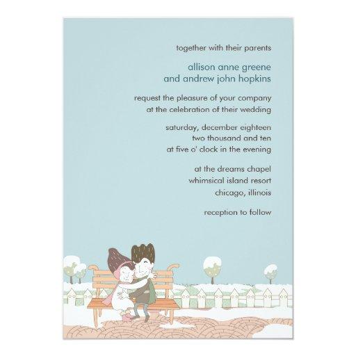 Whimsical Winter Wedding Invitation Card