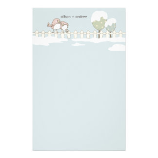 Whimsical Winter Wedding Thank You Letterhead Personalized Stationery