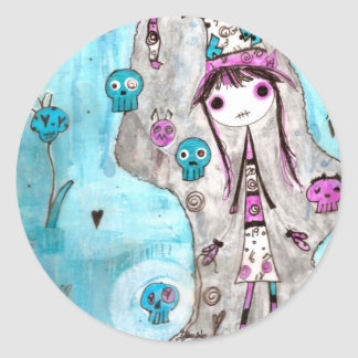 Whimsical Witches ~ Marci Round Stickers