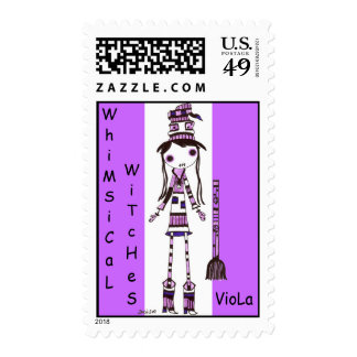 WhiMsiCaL WiTChEs~ VioLa Postage Stamps