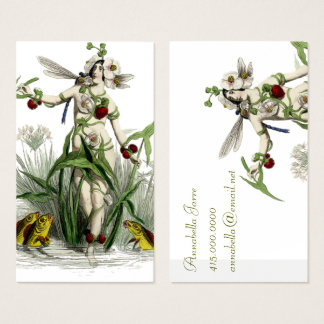 Whimsical Woman and Creatures Business Card
