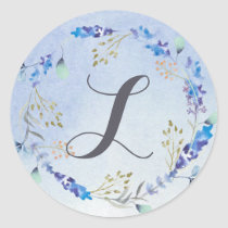 Whimsical Wonderland  Spring Floral Classic Round Sticker
