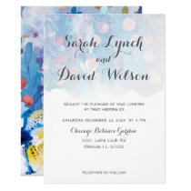 Whimsical Wonderland  Spring Floral Wedding Card