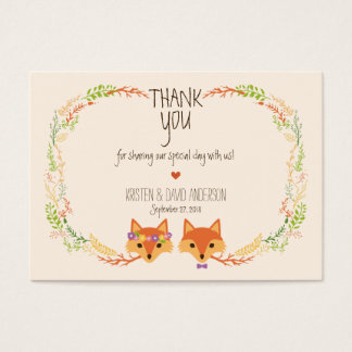 Whimsical Woodland Foxes (Ivory) Gift Tags / Cards
