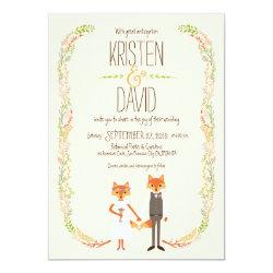 Whimsical Woodland Foxes Ivory Wedding